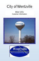 Water Utility Customer Information Brochure - The City of Wentzville ...