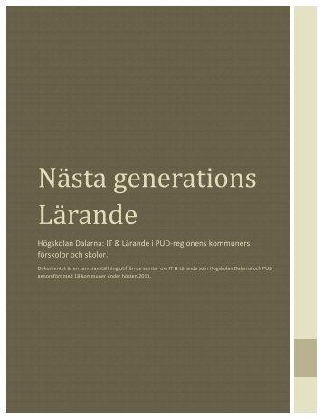 Nästa Generations Lärande - Högskolan Dalarna