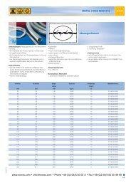 METAL HOSE INOX 376 PDF zum Download