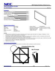 NEC V422 Installation Guide - Touch Screens Inc.