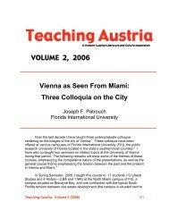 VOLUME 2, 2006 Vienna as Seen From Miami - Austrian Studies ...