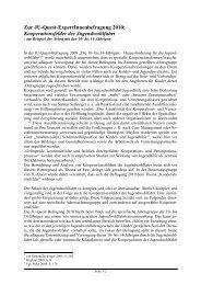 Zur JU-Quest-ExpertInnenbefragung 2010: Kooperationsfelder der ...