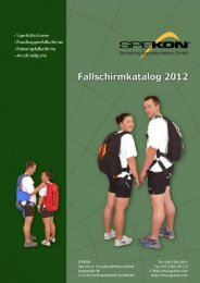 Fallschirmkatalog 2012 - Sächsische Spezialkonfektion GmbH