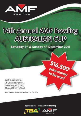 14th Annual AMF Bowling AUSTRALIAN CUP Saturday 3rd ...