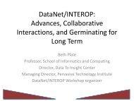 DataNet/INTEROP - Data to Insight Center