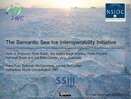 The Semantic Sea Ice Interoperability Initiative - Data to Insight Center