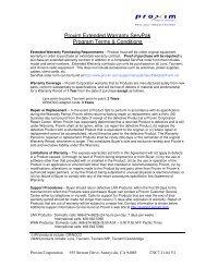 Proxim Extended Warranty ServPak Program Terms & Conditions