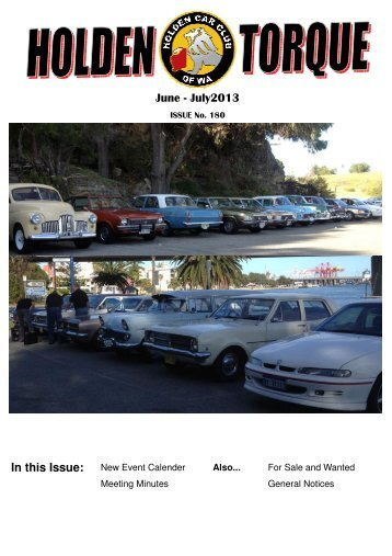 Jun - Jul 2013 - The Holden Car Club of WA inc