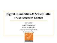 DLF - Data to Insight Center - Indiana University