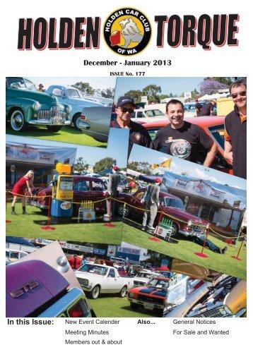 Dec 2012 - Jan 2013 - The Holden Car Club of WA inc