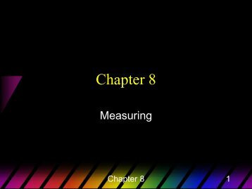 Chapter 8 ppt - Kalamazoo College