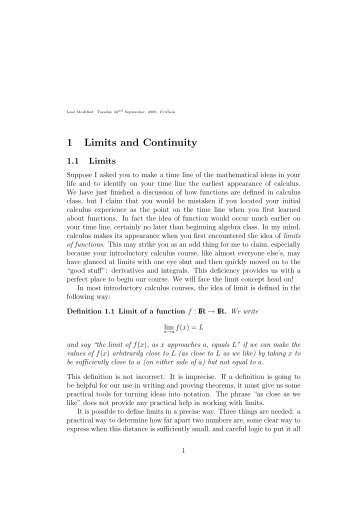 Limits And Continuity Pdf