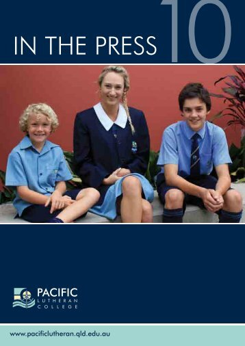 IN THE PRESS10 - Pacific Lutheran College