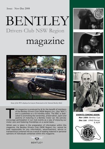 magazine - Bentley Drivers Club NSW