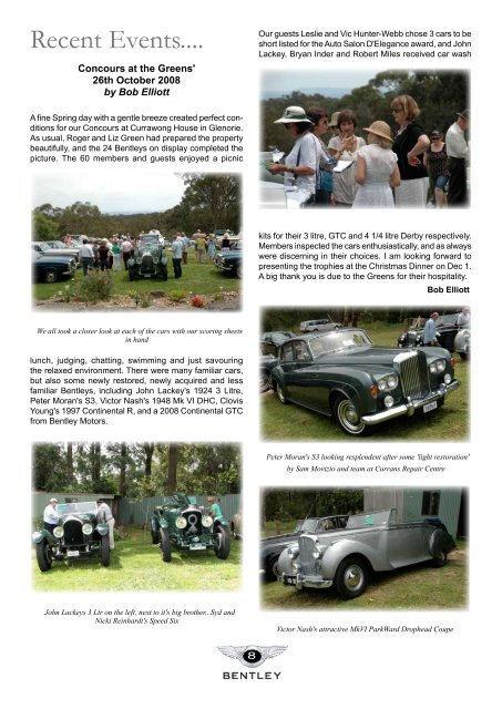 magazine - Bentley Drivers Club NSW