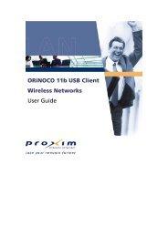 ORiNOCO 11b USB Client Wireless Networks User Guide