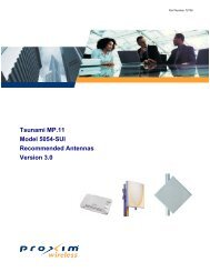 Tsunami MP.11 Model 5054-SUI Recommended Antennas Version ...