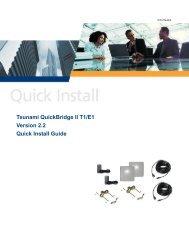 Tsunami QuickBridge II T1/E1 Version 2.2 Quick Install Guide