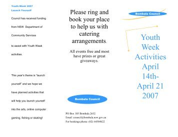 Youth week Flyer PDF - Platypus Country