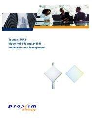Tsunami MP.11 Model 5054-R and 2454-R Installation and ...
