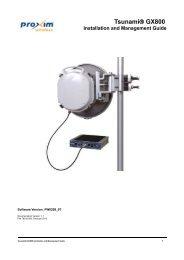 Tsunami® GX800 Microwave Link