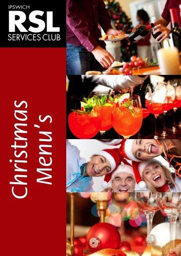 Christmas Menu - Ipswich RSL