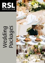 Wedding Packages - Ipswich RSL