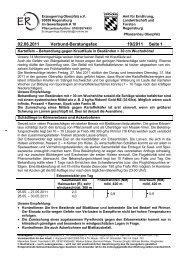 02.06.2011 Verbund-Beratungsfax 19/2011 Seite 1
