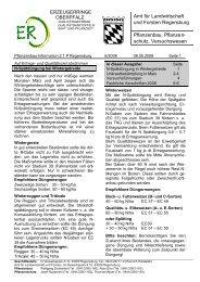 w Amt für Landwirtschaft und Forsten Regensburg Pflanzenbau ...