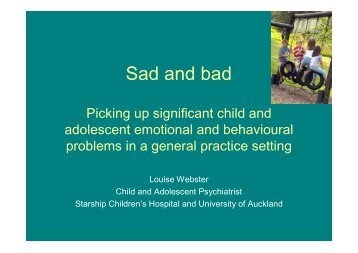 Sad and bad - General Practice Conference & Medical Exhibition
