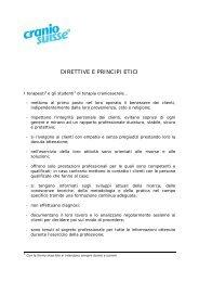 DIRETTIVE E PRINCIPI ETICI - Cranio Suisse