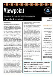 Viewpoint - October 2012 - Castle Hill RSL Photography Club