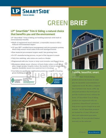 LP SmartSide Siding Green Brief - BlueLinx