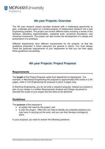 Research proposal project