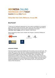INDONESIA CALLING - Asialink - University of Melbourne