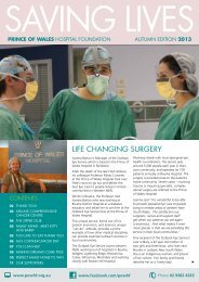 2013 Autumn Edition - Prince of Wales Hospital Foundation