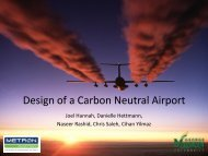 Design of a Carbon Neutral Airport - Center for Air Transportation ...