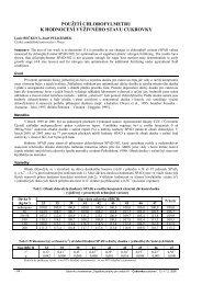 použití chlorofylmetru k hodnocení výživného ... - Konference, Agro