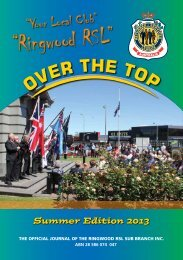 Summer Edition 2013 - Ringwood RSL