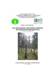 Vliv abiotických a biotických stresorů na ... - Konference, Agro