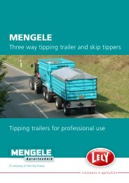 Three way tipping trailer and skip tippers - Lely