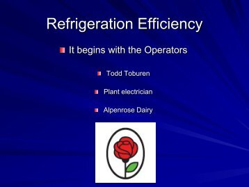 Refrigeration Efficiency