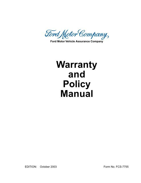 Motorcraft Battery Warranty Chart