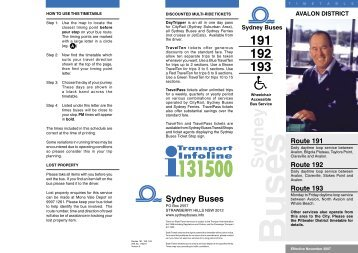 Sydney Buses - Where We Live on Sydney's Northern Beaches