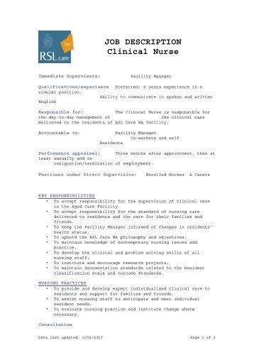 primary care assistant job description