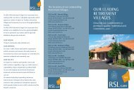 Our Leading retirement viLLages. - RSL Care WA