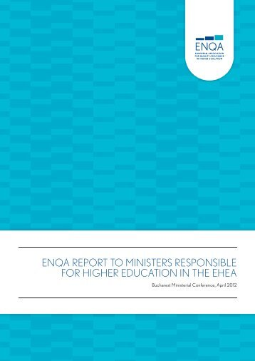 enqa report to ministers responsible for higher education in the ehea