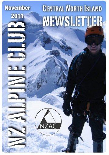 November 2011 - New Zealand Alpine Club