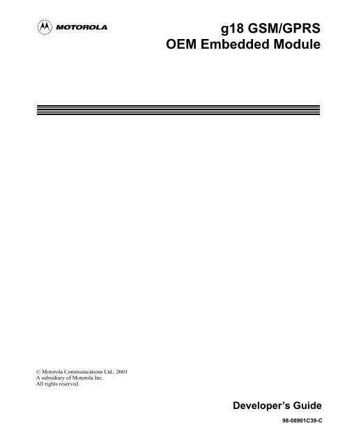 g18 developer manual pdf