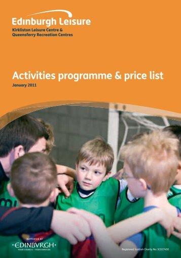 Activities programme & price list - Ch-change.com